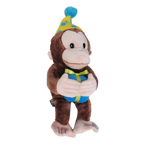 Curious George Birthday 14-Inch Plush