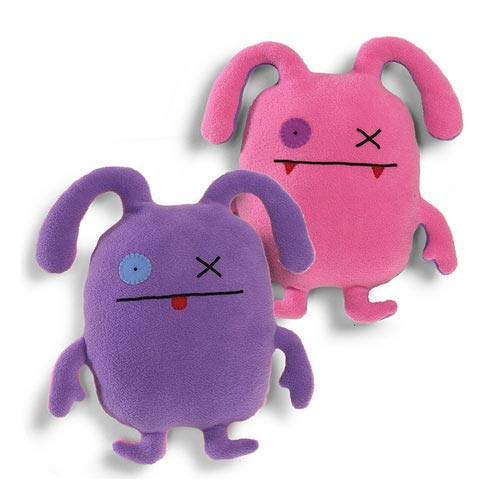Uglydoll Double Trouble Ox Pink and Purple Plush