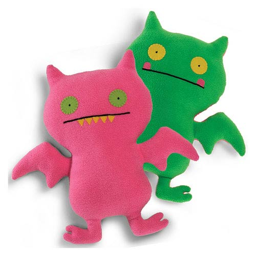 Uglydoll Double Trouble Ice-Bat Pink and Green Plush