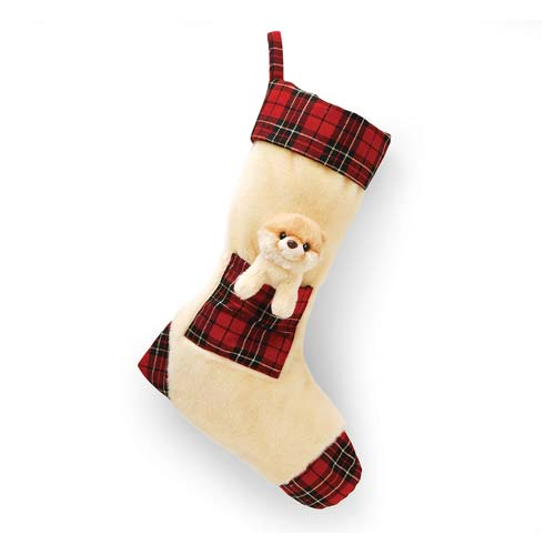Boo Christmas Stocking Plush