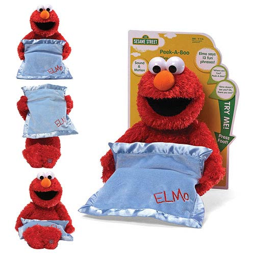 Sesame Street Peek-A-Boo Elmo Moving and Talking Plush