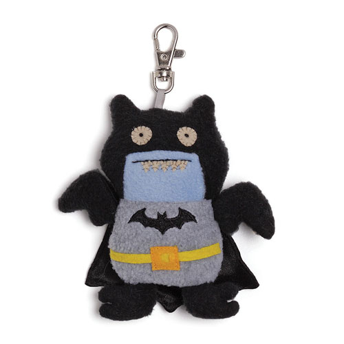 DC Comics Black Batman Uglydoll Ice Bat Clip-On Plush