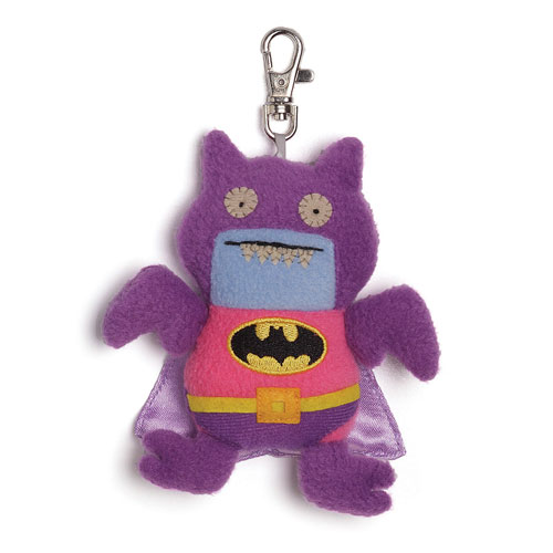 DC Comics Pink Purple Batman Uglydoll Ice Bat Clip-On Plush