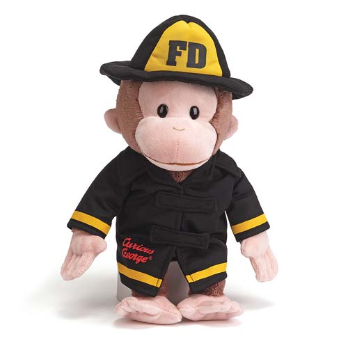 Curious George Fireman Plush