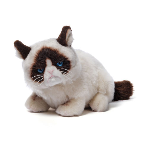 Grumpy Cat Laying Down Plush