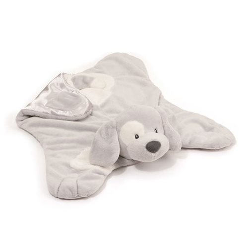 Spunky Dog Comfy Cozy Gray Plush Blanket