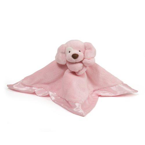 Spunky Dog Lovey Pink Plush Blanket