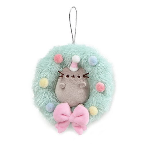 Pusheen the Cat Pusheen 4 1/2-Inch Plush Wreath Ornament