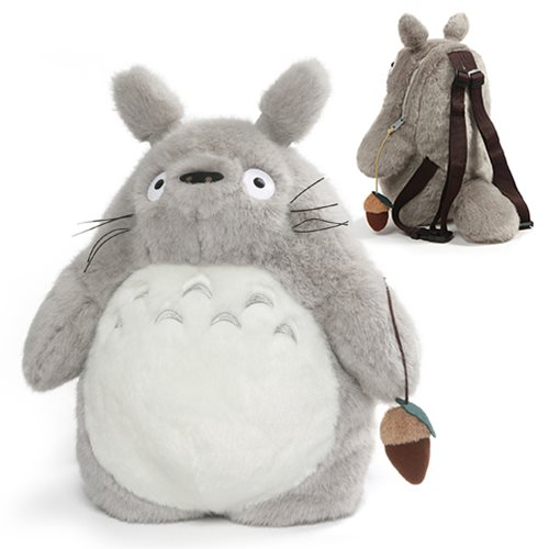 My Neighbor Totoro Totoro Grey Plush Backpack