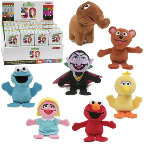 Sesame Street 50th Anniversary Blind Box Plush Random 4-Pack
