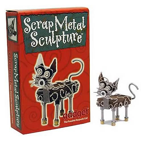 Gadget Scrap Metal Cat Sculpture