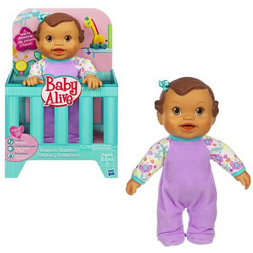 Baby Alive Bouncing Babbles Hispanic Baby Doll, Not Mint