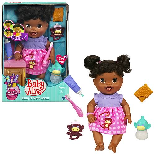 Baby Alive Babys New Teeth African-American Doll
