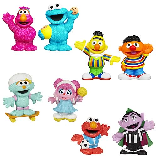 Sesame Street Toys : Sesame street figure packs wave playskool