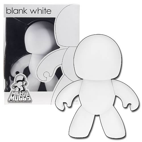 Mighty Muggs Customizable Blank White Vinyl Figure