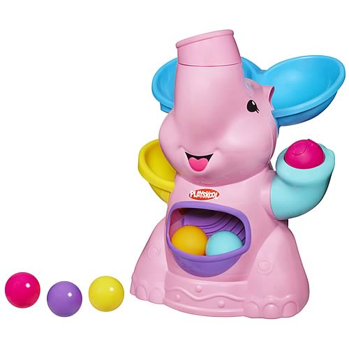 Playskool Poppin Pink Elephant Busy Ball Popper