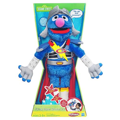 Sesame Street Plush Super Grover 2.0