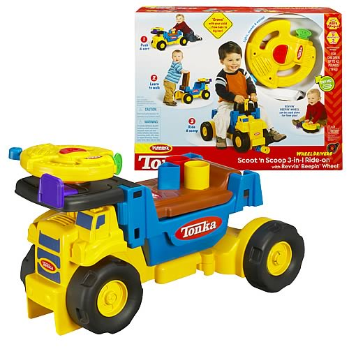 Tonka Scoot 'N Scoop 3 in 1 Ride-On Truck