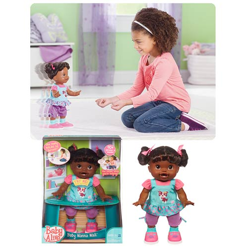Baby Alive Baby Wanna Walk African-American Doll