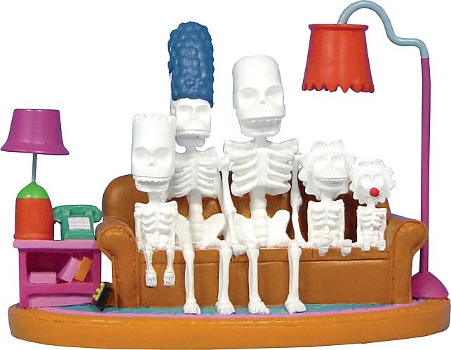 Simpsons Couch Skeleton Mini Statue
