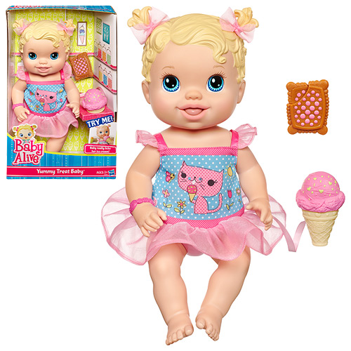 Baby Alive Yummy Treat Baby Doll Blonde