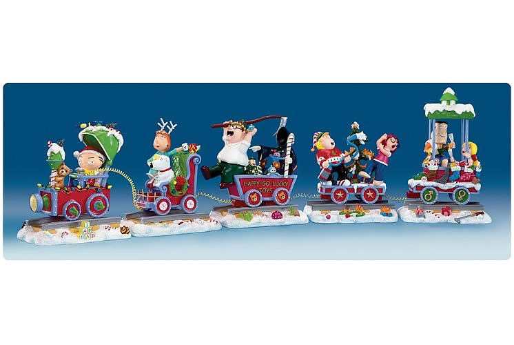 Family Guy Christmas Train Mini Statue
