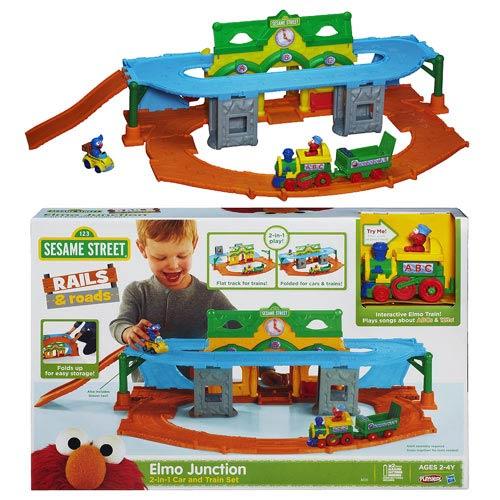 Sesame Street Elmo Junction Train Set