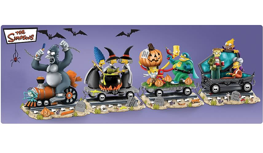 simpsons halloween train of terror mini statue - Halloween Statues