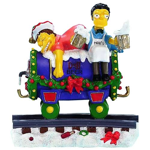 Simpsons Christmas Express 3 Christmas at Moes Statue