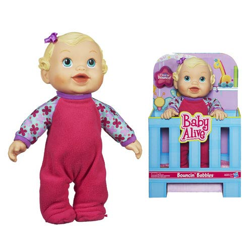 Baby Alive Bouncing Babbles Doll (White)