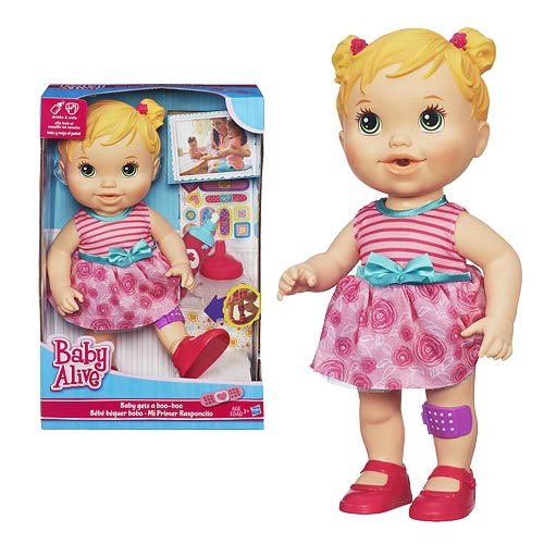 Baby Alive Baby Gets A Boo Boo Doll Caucasian Hasbro