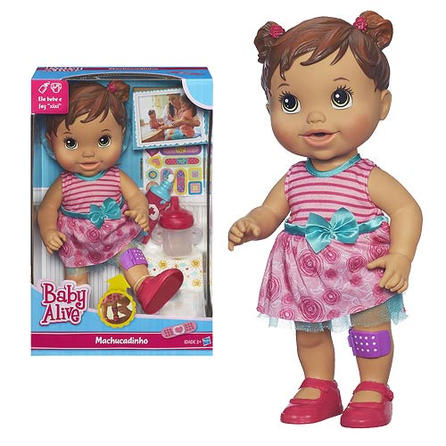 Baby Alive Baby Gets A Boo Boo Doll Hispanic Hasbro