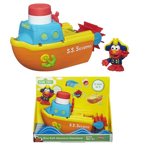 Sesame Street Elmo Bath Adventure Steamboat Set - Playskool