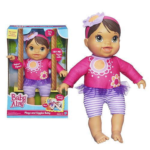 Baby Alive Plays and Giggles Baby Doll Brunette