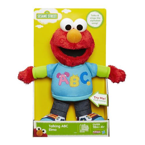 Sesame Steet Talking ABC Elmo Plush Figure