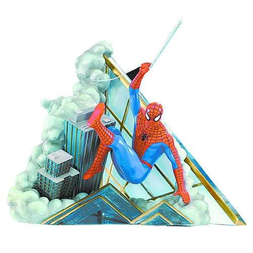 Spider-Man Spinning A Web Mini Statue