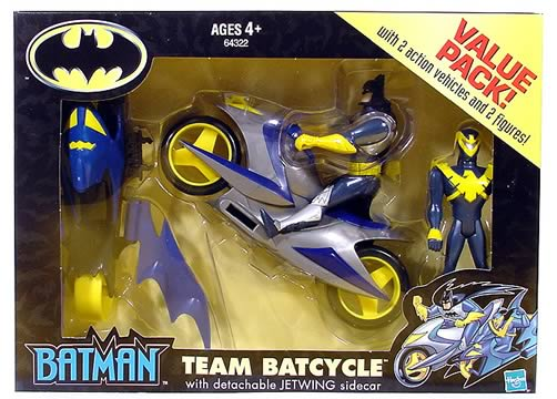 Batcycle, Side Car & Figures