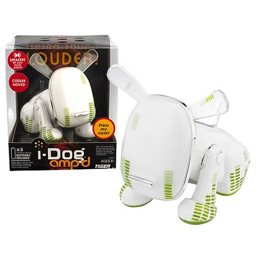 i-Dog Ampd Green Spots Electronic Musical Dog