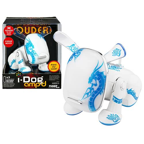 i-Dog Ampd Blue Tattoo Electronic Musical Dog