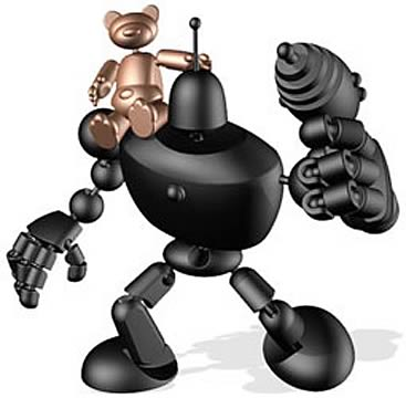 Stikfas Classic Mechana Segmented Robot with Bear