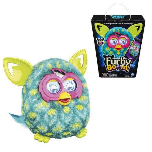 Furby Boom! Green Peacock Polka Dots Electronic Plush Toy