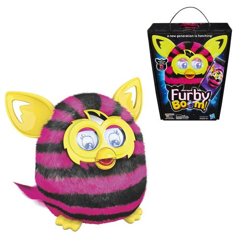 Furby Boom! Pink and Black Stripes Electronic Plush Toy