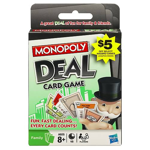 Monopoly Deal Card Game with Bonus Offer
