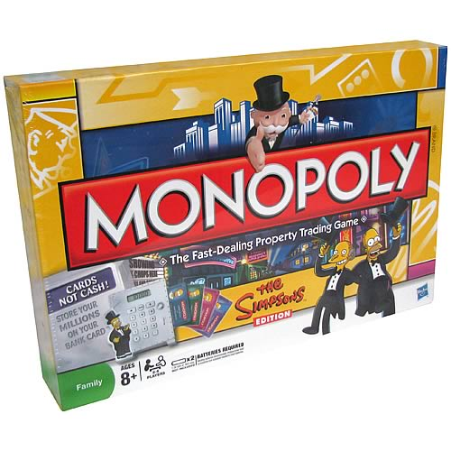 Monopoly The Simpsons Electronic Banking Edition Game