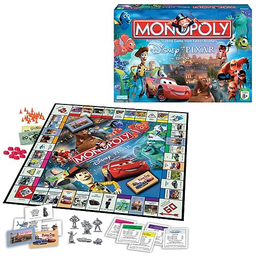 Disney Pixar Edition 2007 Monopoly Game