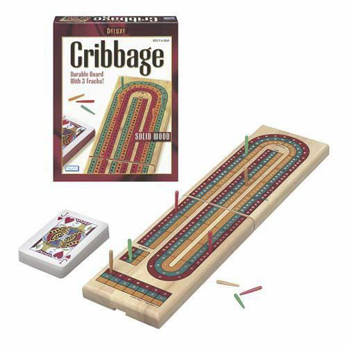 Deluxe  Wood Folding Cribbage Board