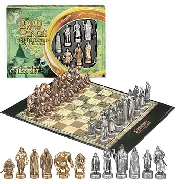 Lord of the rings chess set hasbro games hobbit lord of the rings games at entertainment - Lord of the rings chess set for sale ...
