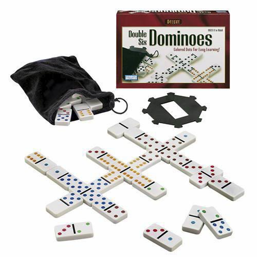 Deluxe Double 6 Dominoes - Colored Dot