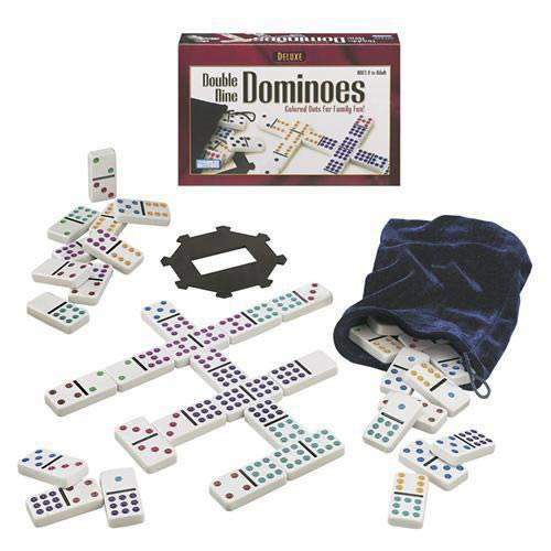 Deluxe Double 9 Dominoes - Colored Dot