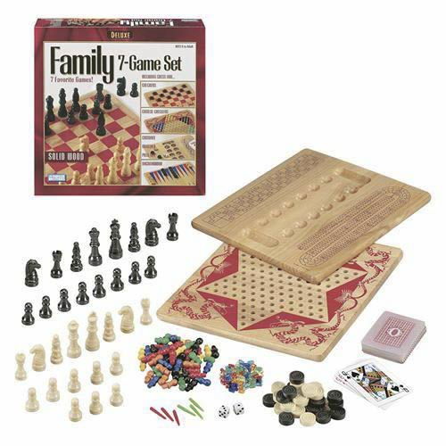 Deluxe Wood Family Game Center